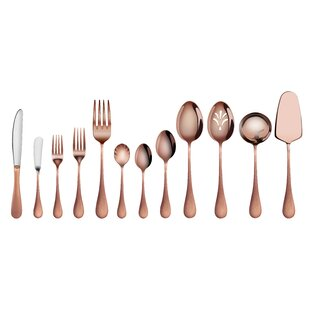 Natalia 47 Piece 18/10 Stainless Steel Flatware Set, Service for 8
