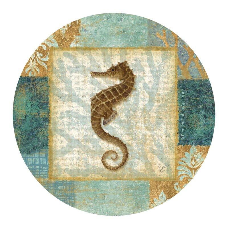 Aqua Seahorse Coaster