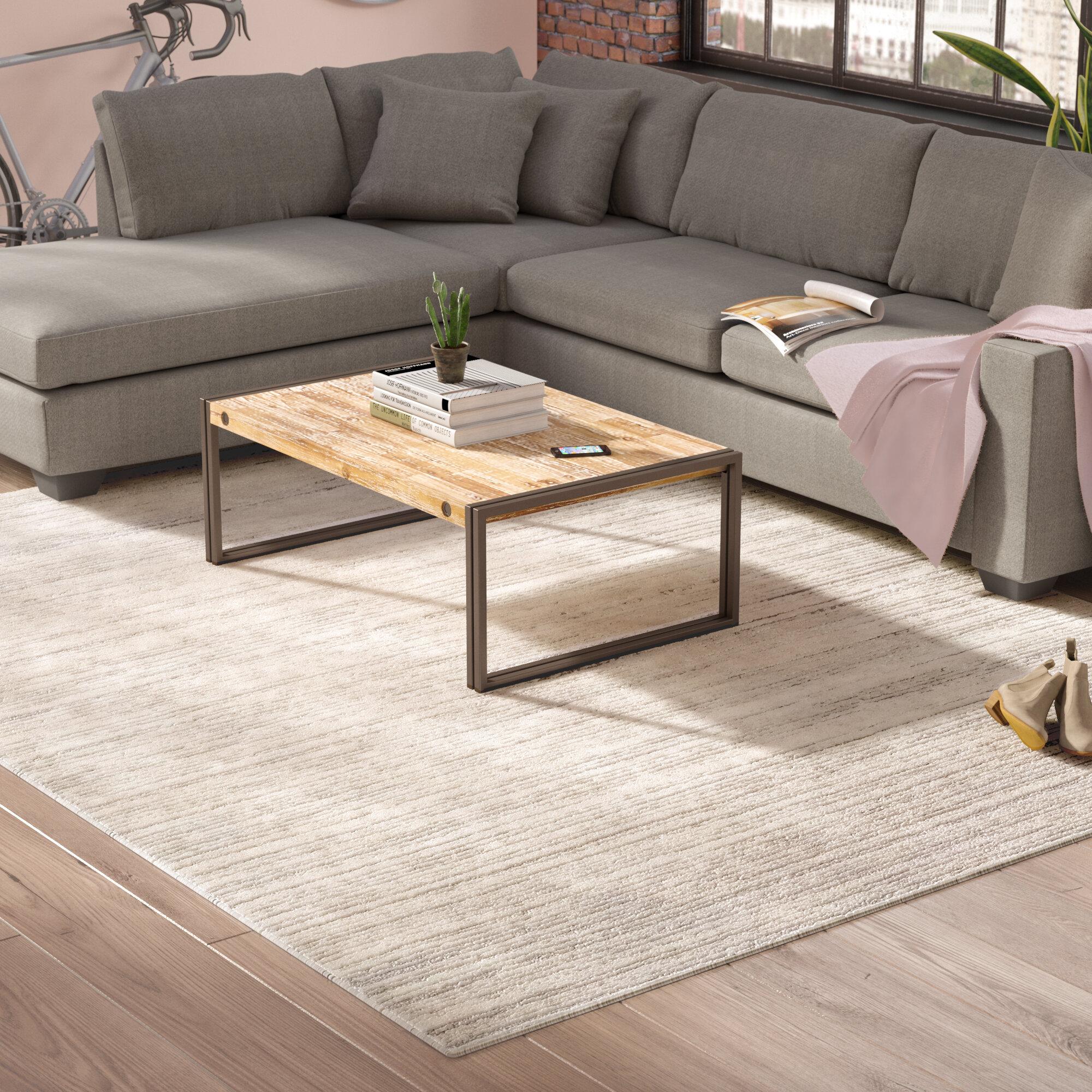 Living Room Shag Rug   Greyleigh Bridgeton Distressed Modern Brown Gray Sleek Area Rug