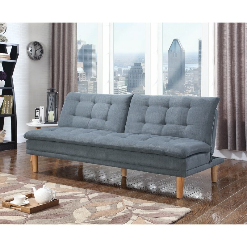 George Oliver Dubreuil Tufted Modern Convertible Sofa | Wayfair