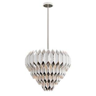 Haiku 13-Light Geometric Chandelier by Corbett Lighting