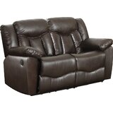 Bellabocca 64 Wide Faux Leather Pillow Top Arm Reclining Loveseat by Latitude Run®