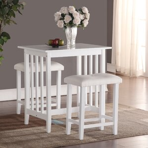 Charming Richland 3 Piece Counter Height Pub Table Set