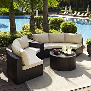 Michal 4 Piece Sectional Set with Cushions