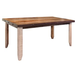 August Grove Golden Oaks Solid Wood Dinin..