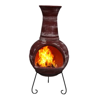 Anillos Clay Wood Burning Chimenea By Gardeco