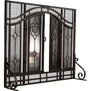 iron fireplace cover. Single Panel Glass Fireplace Screen Screens  Doors You ll Love Wayfair