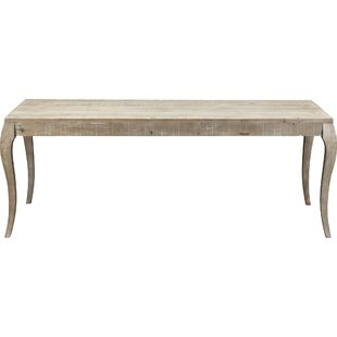 Marron Solid Wood Dining Table Lark Manor