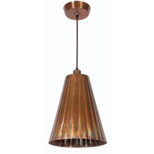 Wildon Home ® Flute 1-Light Cone Pendant