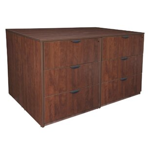 Latitude Run Linh Stand Up Quad 6-Drawer Wood Lateral Filing Cabinet