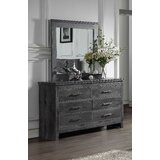 Diggs 6 Drawer Double Dresser with Mirror by Foundry Select