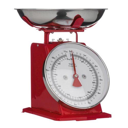 Mechanische Küchenwaage | Küche und Esszimmer > Küchengeräte > Küchenwaagen | Rot | All Home