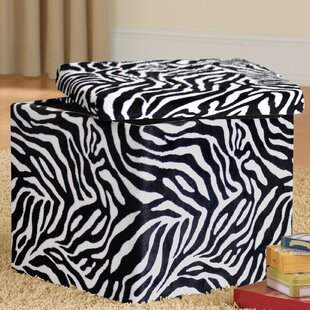 Zebra Storage Ottoman by Urban Shop