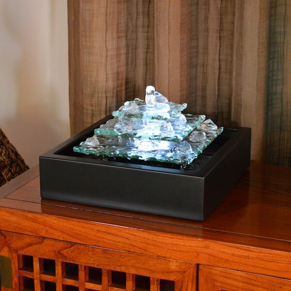 Bluworld Water Wonders Glass Glacier Bay Tabletop Fountain With LED Light U0026  Reviews | Wayfair