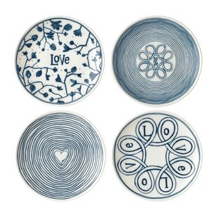 Love 4 Piece Bread and Butter Plate Set