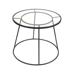 Metal & Glass End Table by..