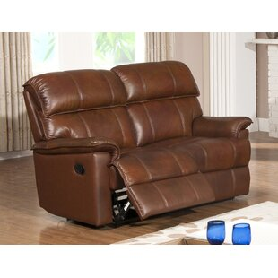 Solenson II Leather 2 Seater Reclining Sofa By HydeLine Furniture