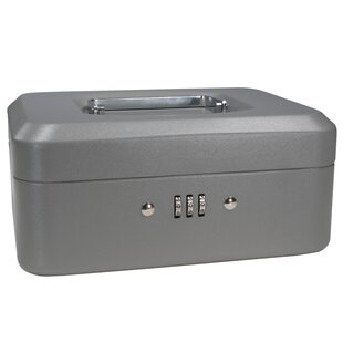 Small Gray Combination Lock Box by Barska