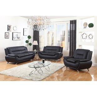 Chiasson 3 Piece Living Room Set