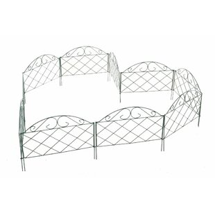 0.5m x 0.4m Cladera Border Fence (Set of 10) by Home & Haus