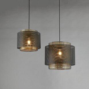Plexus Non Electric Metal Drum Pendant Shade By Endon Lighting