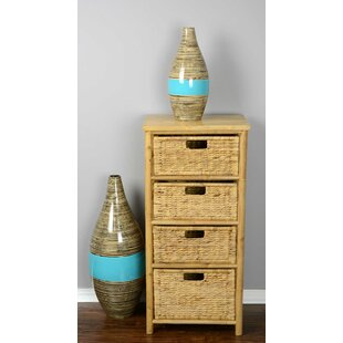 Bay Isle Home Elim 3 Drawer Bamboo Accent Chest