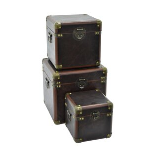 Darby Home Co Carola Wood Accent 3 Piece Trunk Set