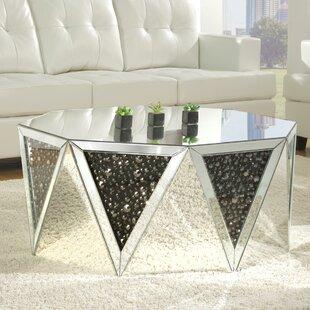 Rosdorf Park Blakes Mirrored Coffee Table
