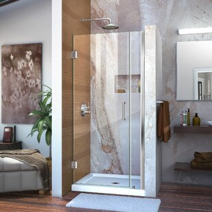 Unidoor 35 x 72 Hinged Frameless Shower Door with Clearmax? Technology by DreamLine