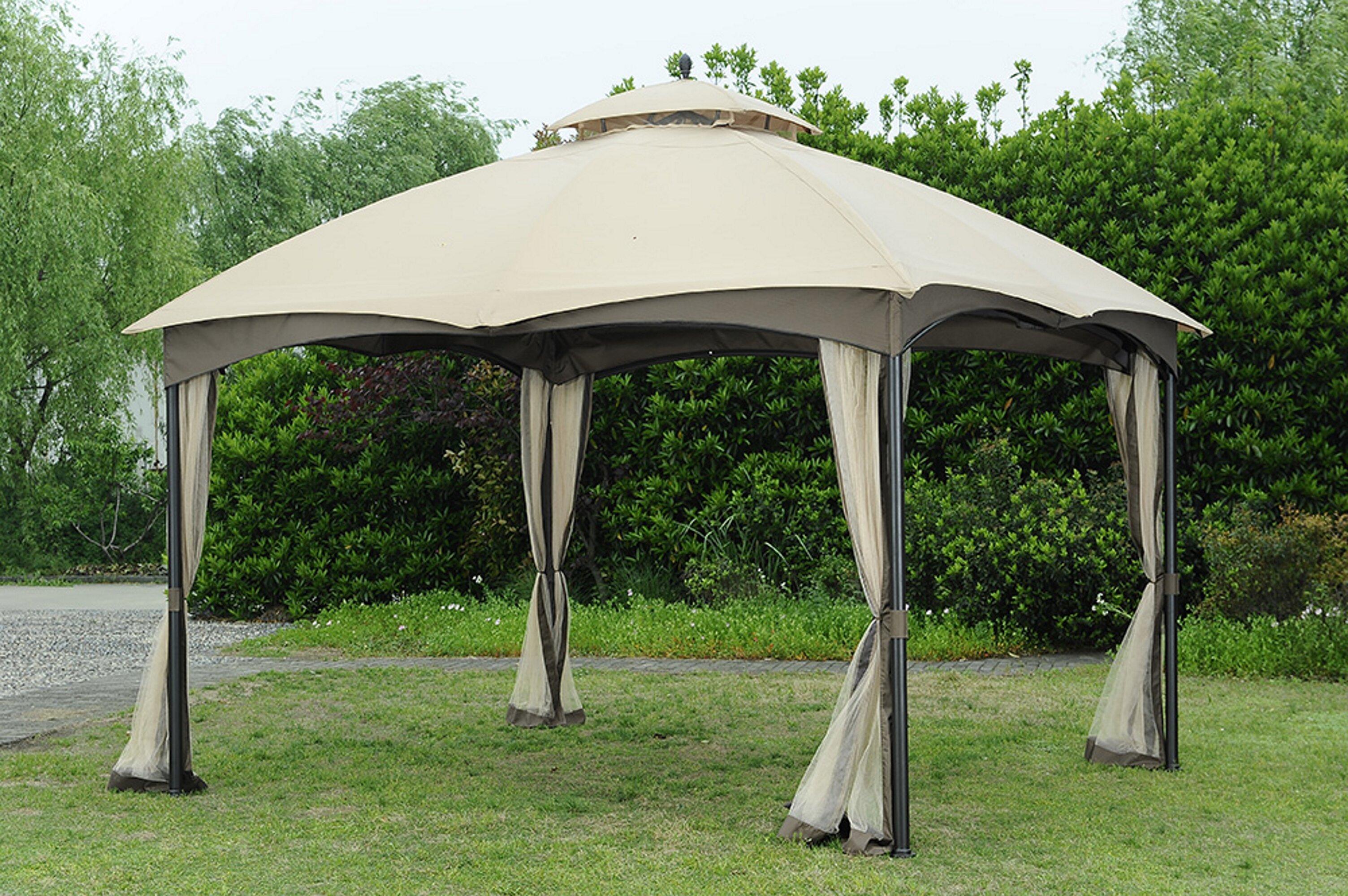 Hampton bay gazebo replacement top for 11 ft. X 11 ft. Aluminum.