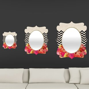 Bianca Chevron 2 Quatrefoil Accent Mirror by Deny Designs