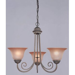Mcleod 3-Light Shaded Chandelier by Charlton Home