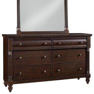 Cruz 6 Drawer Double dresser