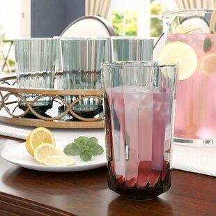 Arnetta 27 oz. Plastic Drinking Glass (Set of 6)