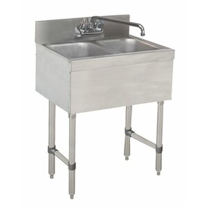 Bathroom Sink 24 X 18 2 hole utility sinks you'll love | wayfair