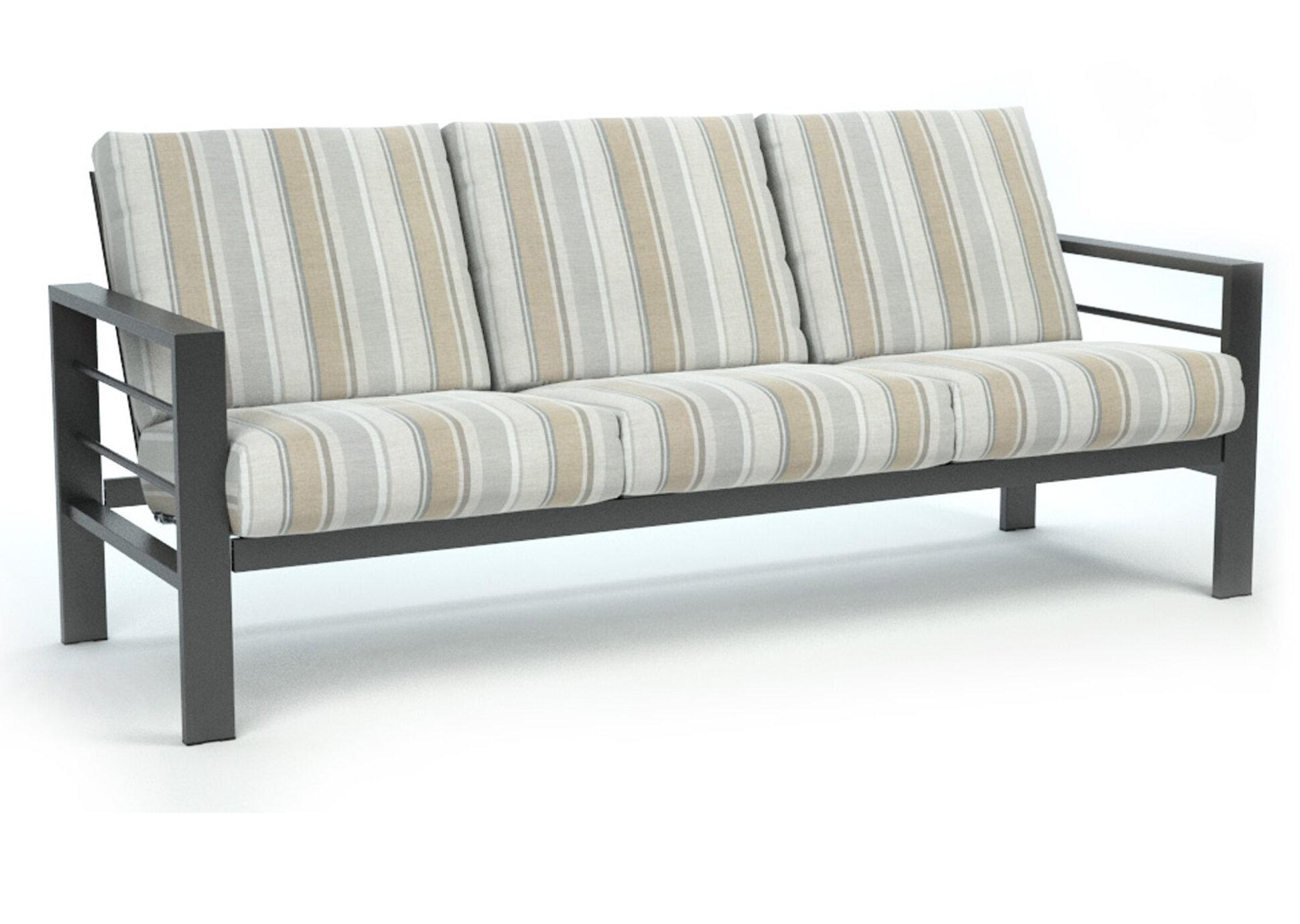 Fugate Trusted Fog Low Back Patio Sofa