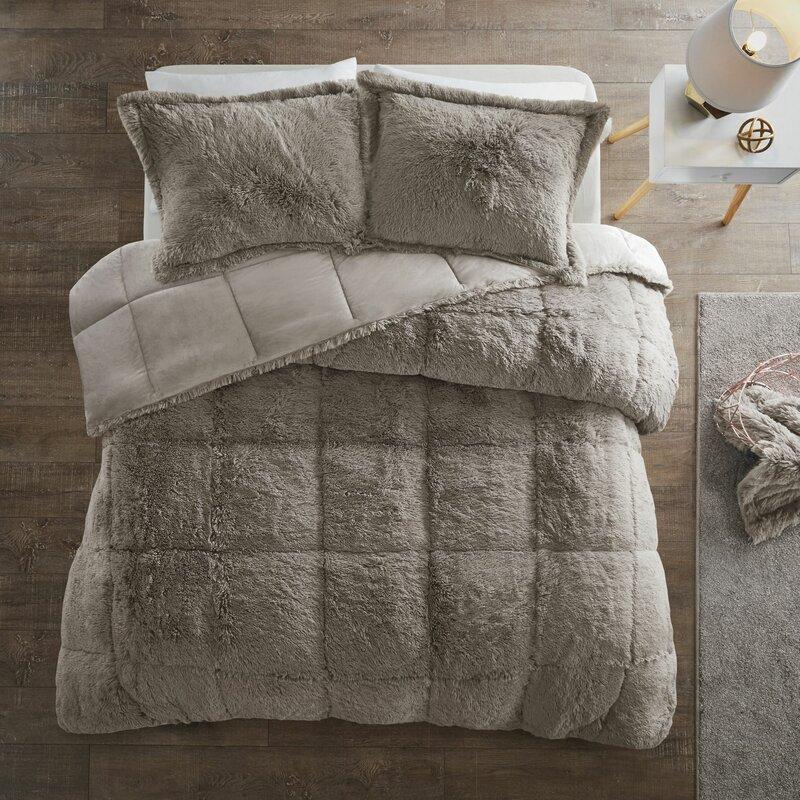 Rosdorf Park Trahan Shaggy Comforter Set Amp Reviews Wayfair