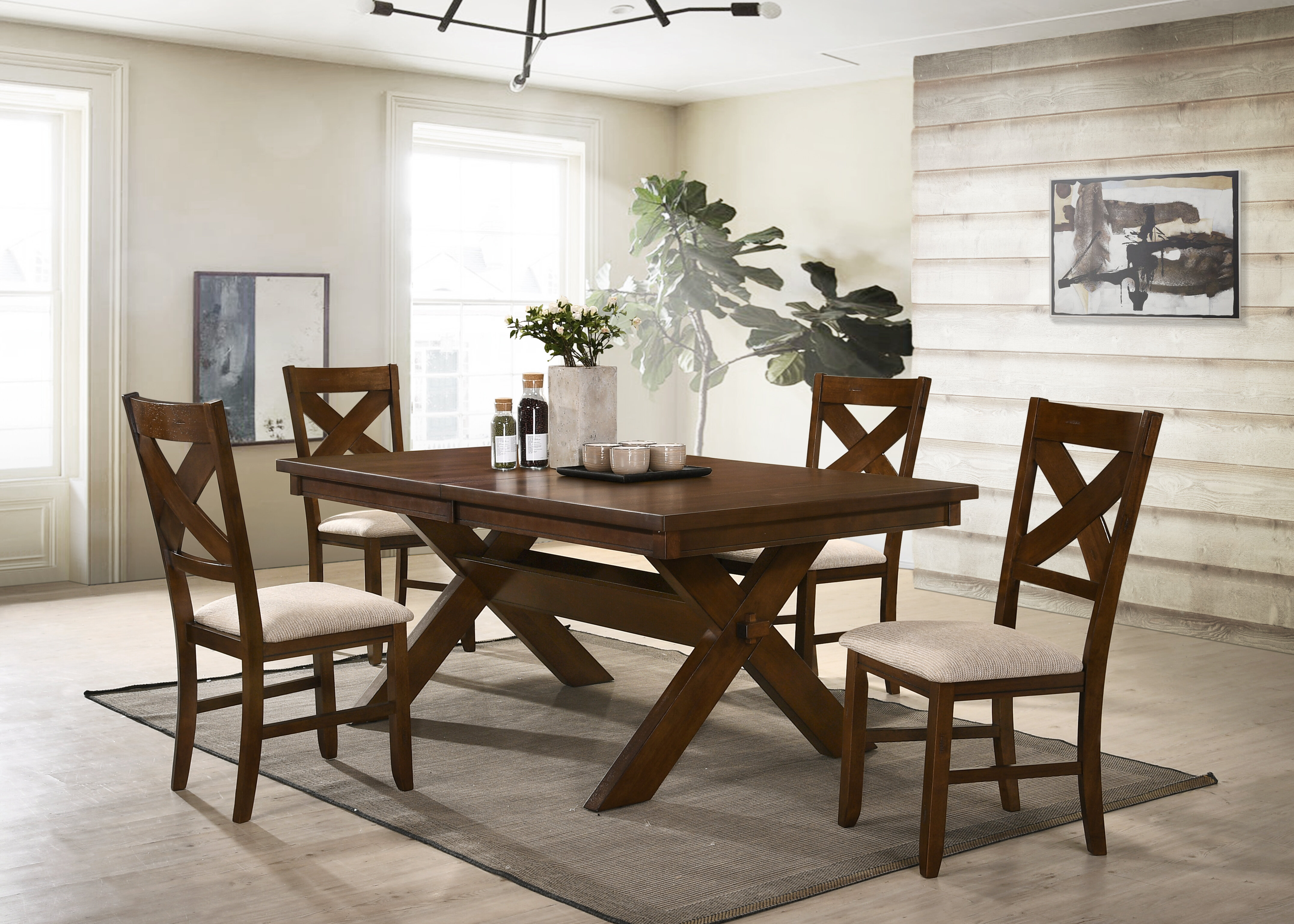Isabell Extendable Solid Wood Dining Set Reviews Birch Lane