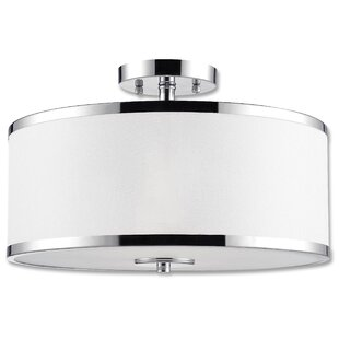 Schade 2-Light Semi Flush Mount by Ebern Designs