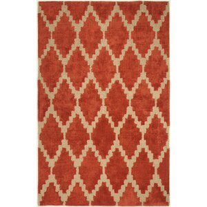 Reinert Tajine Hand-Tufted Orange Area Rug