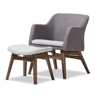 Wholesale Interiors Victoria Lounge Chair and Ottoman