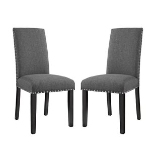 Smart Upholstered Dining Chair (Set of 2) Alcott Hill