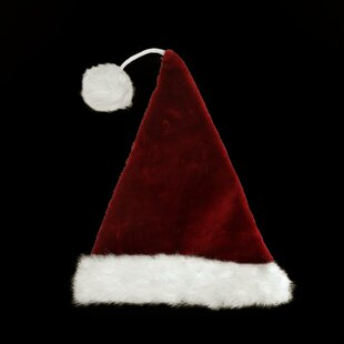 2d3fb2abb9b Plush Santa Hat with Cuff and Extended Pom