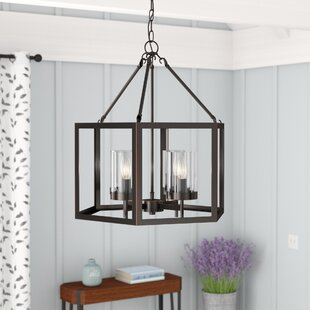 Gracie Oaks Liberty Street 4-Light Lantern Pendant