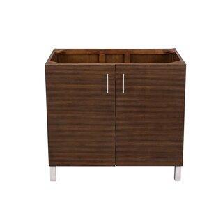 Find for Elbridge 36 Single American Walnut Solid Wood Base Bathroom Vanity Set ByMercury Row