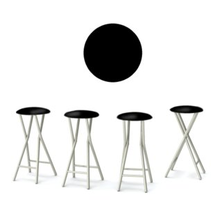 Champagne 30'' Patio Bar Stool with Cushion (Set of 4)
