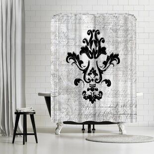 Lebens Art Purple Baroque Ornament 1 Single Shower Curtain
