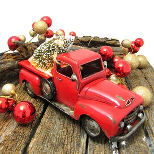 cf9447cdcc4b Pickup Truck with Christmas Tree Figurine. by The Holiday Aisle