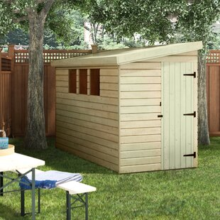 5 Ft. W X 10 Ft. D Shiplap Pent Wooden Shed By WFX Utility