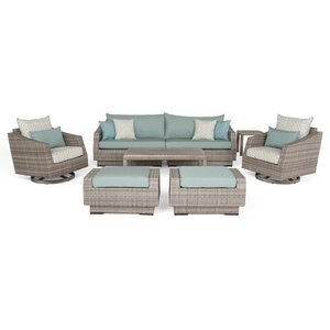 Greenfield Deluxe 8 Piece Deep Sunbrella Seating Group with Cushions